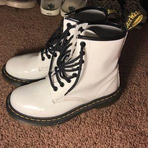 Dr. Martens Shoes | Shiny White Doc